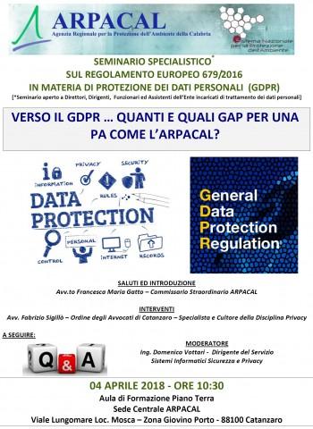 Locandina GDPR 040418