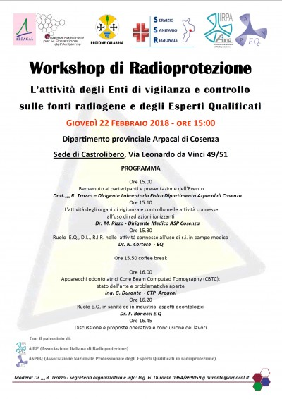 workshop radioprotezione